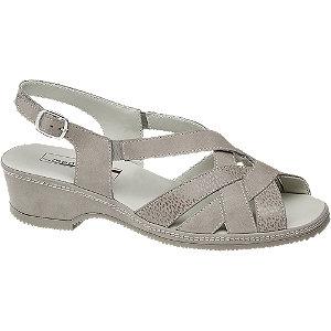Levně Stříbrné kožené komfortní sandály Medicus