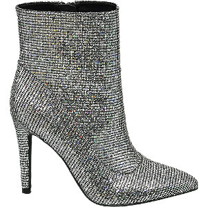 Levně Stříbrné nízké kozačky Rita Ora