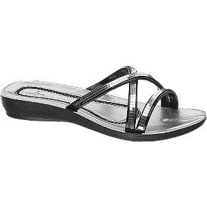 Levně Stříbrné pantofle Blue Fin