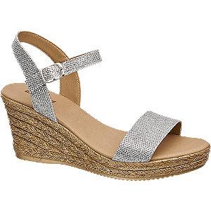 Levně Stříbrné sandály Graceland na klínku