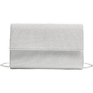 Levně Stříbrná třpytivá kabelka Graceland