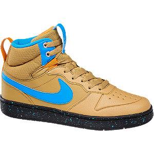 Levně Světle hnědé kotníkové tenisky Nike Court Borough Mid