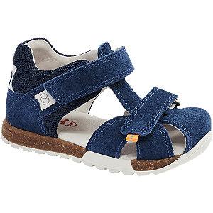 Levně Tmavě modré dětské kožené sandále Elefanten
