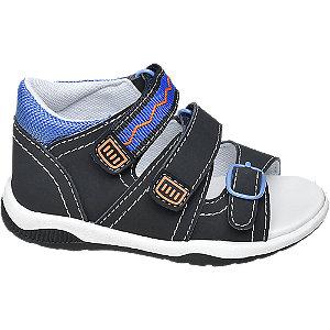 Levně Tmavě modré dětské sandály Bobbi Shoes na suchý zip