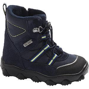 Levně Tmavě modrá dětská zimní obuv na zip Elefanten s TEX membránou