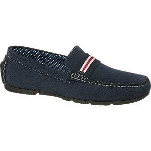 Levně Tmavě modré kožené mokasíny AM Shoe