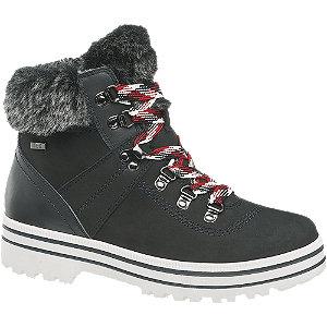 E-shop Tmavě modrá kožená šněrovací obuv se zipem a TEX membárnou 5th Avenue