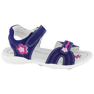 Levně Tmavě modré kožené sandály Graceland na suchý zip