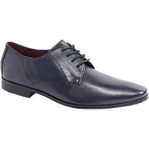 Levně Tmavě modrá kožená společenská obuv Bugatti