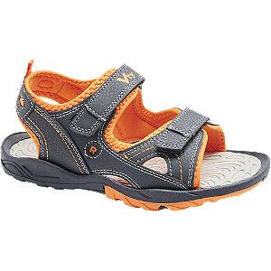 Levně Tmavě modré sandály Vty na suchý zip