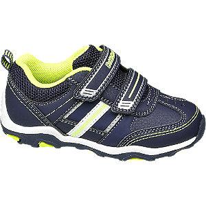 Levně Tmavě modré tenisky na suchý zip Bobbi-Shoes