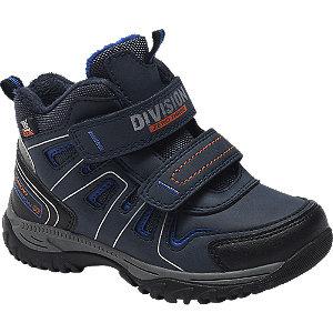 Levně Tmavě modrá zimní obuv na suchý zip Cortina