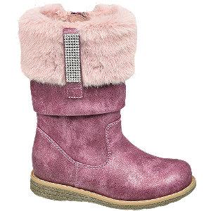 Levně Tmavě růžové dívčí kozačky Cupcake Couture