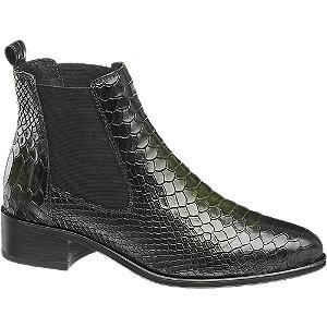 Levně Tmavě zelená kožená obuv chelsea 5th Avenue