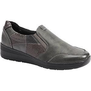 Levně Tmavě-šedá slip-on obuv Easy Street