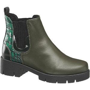 Levně Zelená Chelsea obuv Catwalk se zvířecím vzorem