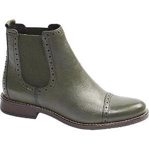 Levně Zelená kožená Chelsea obuv 5th Avenue