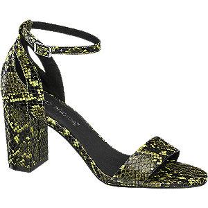 Levně Zelené sandály na podpatku Vero Moda se zvířecím vzorem