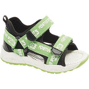 Levně Zeleno-černé dětské sandály Bobbi-Shoes