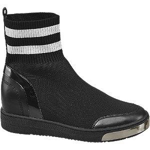 Zwarte sneaker wedge