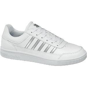 białe sneakersy damskie k-swiss ze srebrnymi paskami