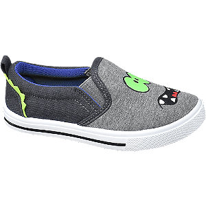 Levně Šedé bačkory Bobbi-Shoes