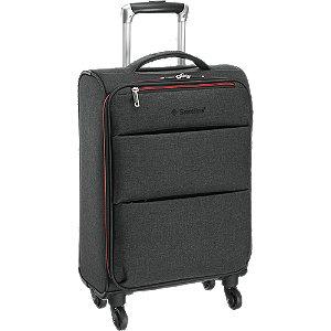 Levně Šedý cestovní kufr Saxoline_ vel. S
