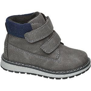 Levně Šedá dětská kotníková obuv na suchý zip Bobbi-Shoes
