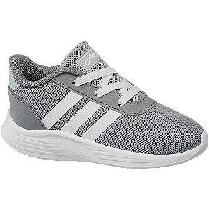 Levně Šedé dětské slip-on tenisky Adidas Lite Racer 2.0 s elastickými tkaničkami