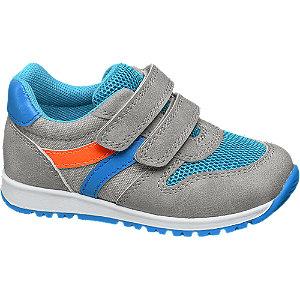 Levně Šedé dětské tenisky na suchý zip Bobbi-Shoes