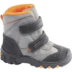 Levně Šedá dětská zimní obuv na suchý zip Elefanten s TEX membránou