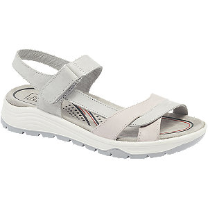 Levně Šedé kožené komfortní sandály Easy Street