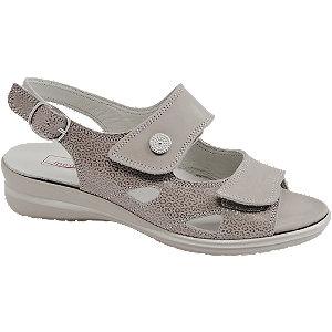 Levně Šedé kožené komfortní sandály Medicus