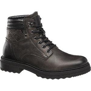 Levně Šedá kožená kotníková obuv AM Shoe