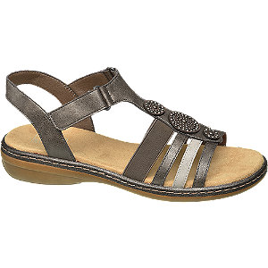 Levně Šedé komfortní sandály Easy Street