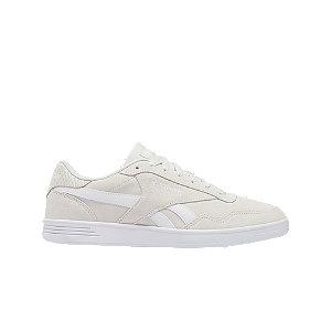 Levně Šedo-bílé kožené tenisky Reebok Royal Techque T