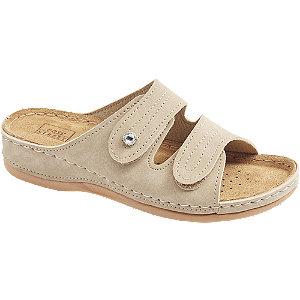 Levně Šedo-béžové komfortní pantofle Easy Street