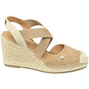 Levně Šedo-béžové sandály na klínku Esprit