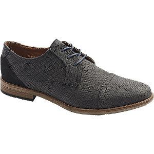 Levně Šedo-černá společenská obuv Venice