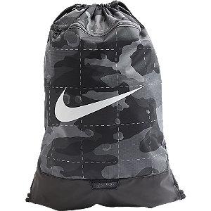 Levně Šedo-černý vak Nike Brasilia gym sacks