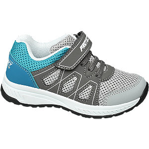 Levně Šedo-modré tenisky Bobbi Shoes na suchý zip