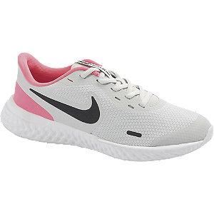 Levně Šedo-růžové tenisky Nike Revolution 5