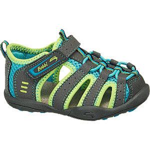 Levně Šedo-zelené dětské sandály Bobbi Shoes
