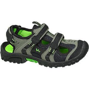 Levně Šedo-zelené sandály s pevnou špičkou