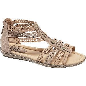 Levně Šedobéžové komfortní sandály Easy Street
