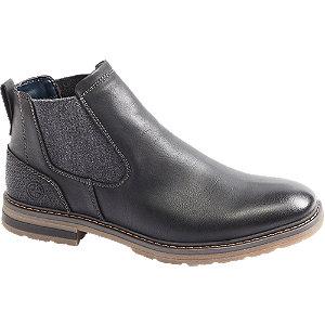 Levně Černá Chelsea kotníková obuv Venice