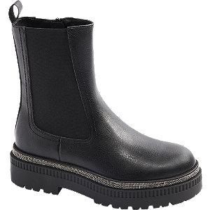 Levně Černá Chelsea obuv se zipem Catwalk