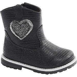 Levně Černá dětská kotníková obuv Cupcake Couture