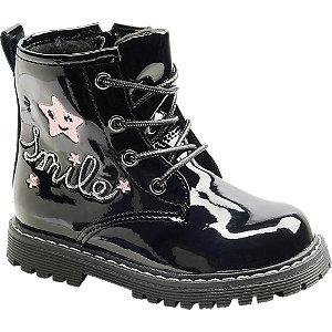 Levně Černá dětská šněrovací obuv se zipem Cupcake Couture