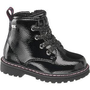Levně Černá dětská šněrovací obuv se zipem Tom Tailor s TEX membránou